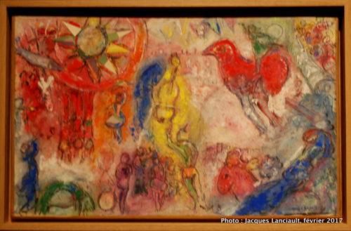 Esquisse pour la Comedia Dell'Arte, Marc Chagall, 1957-1958, MBAM