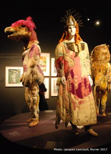 Costumes pour l'opéra «La Flûte enchantée» présenté à New York en 1966 et 1967, Marc Chagall, 1949, MBAM