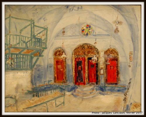 La Synagogue de Sefed, Israël, Marc Chagall, 1931, MBAM