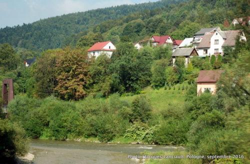 Paysage du sud de la Pologne