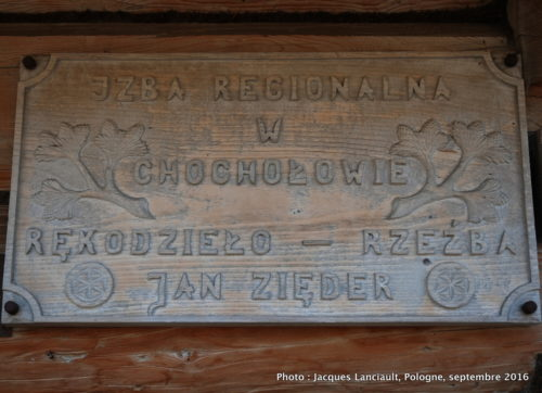 Affiche de l'atelier de Jan Zięder, Chochołów, Pologne