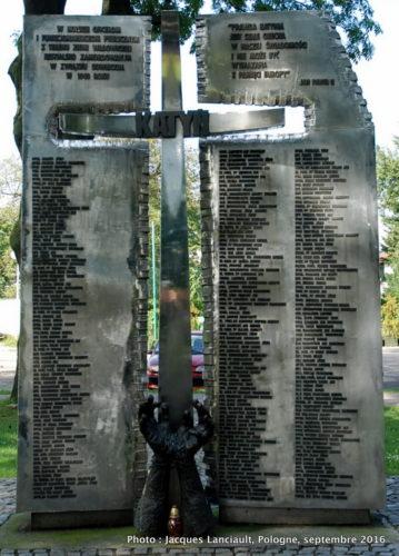 Monument à Katyń, Wadowice, Pologne