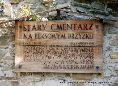 Cimetière de la Vieille église, Zakopane, Pologne