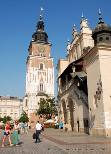 Beffroi de l'ancien Hôtel de Ville, Cracovie, Pologne