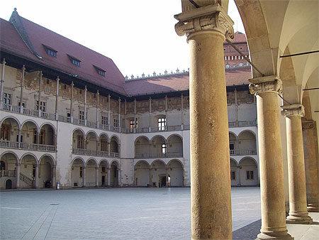 Cour intérieure du château du Wawel, Cracovie, Pologne