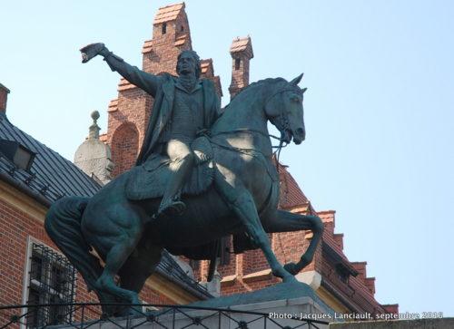 Statue équestre de Tadeusz Kościuszko, cathédrale de Cracovie, Cracovie, Pologne