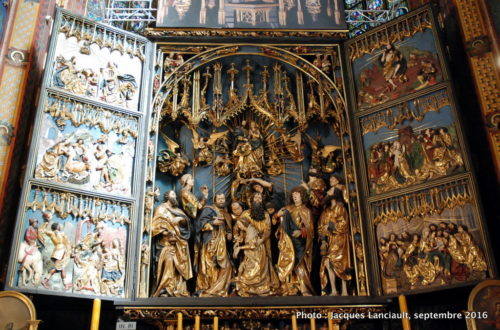 Retable de Veit Stoss, basilique Notre-Dame, Cracovie, Pologne