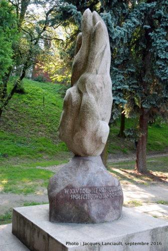 Monument 25e anniversaire de fondation de Solidarność, Sandomierz, Pologne