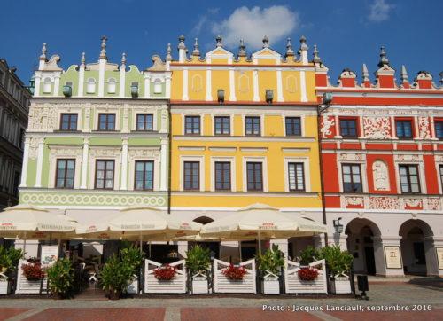 Maisons sur le rynek, Zamość, Pologne