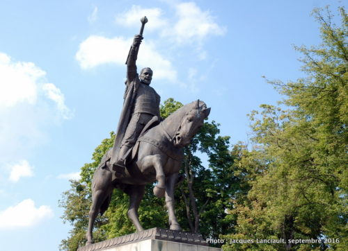 Statue équestre de Jan Zamoyski, Zamość, Pologne