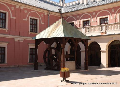 Cour intérieure du château de Lublin, Pologne