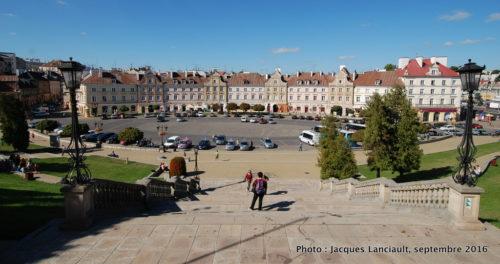 Place devant le château de Lublin, Pologne