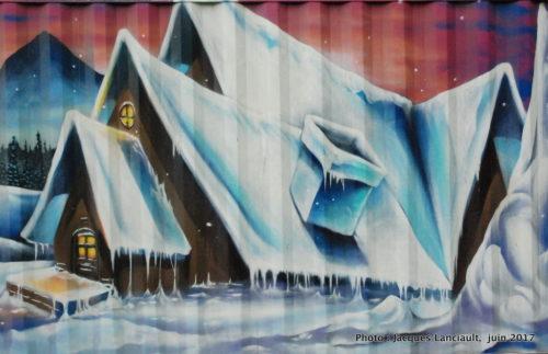 Murales du parc du Pélican, 2e avenue, Molson et Saint-Joseph Montréal, Québec