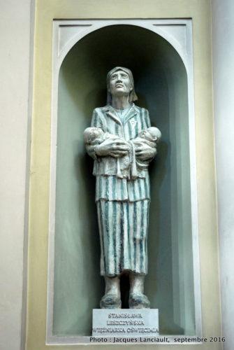 Statue de Stanisława Leszczyńska, église Sainte-Anne, Varsovie, Pologne