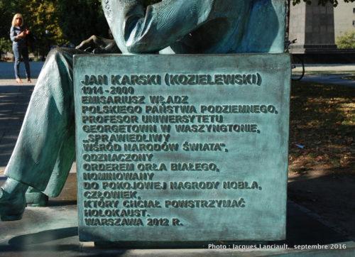Banc Jan Karski, Varsovie, Pologne