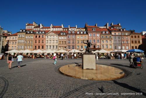Rynek, vieille ville de Varsovie, Pologne
