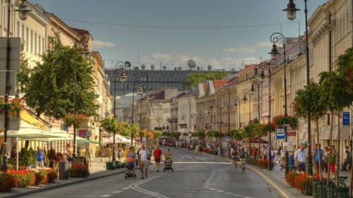 Ulica Nowy Świat, Varsovie, Pologne