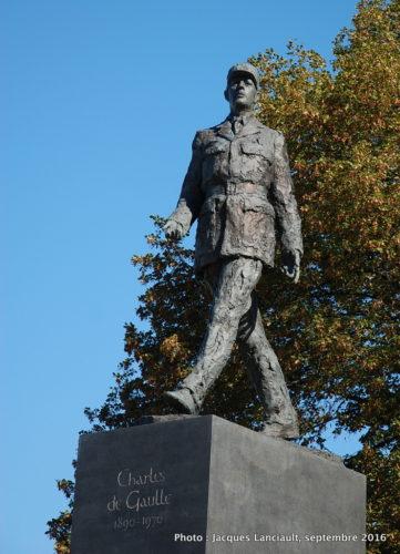 Monument au général de Gaulle, Varsovie, Pologne