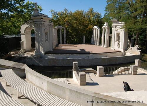 Amphithéâtre royal Łazienki, parc Łazienki, Varsovie, Pologne