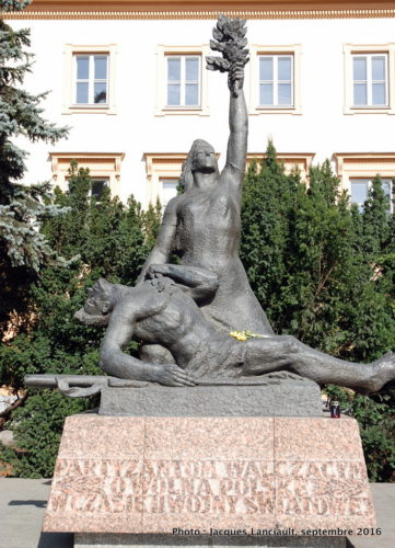 Monument Partisan, Varsovie, Pologne