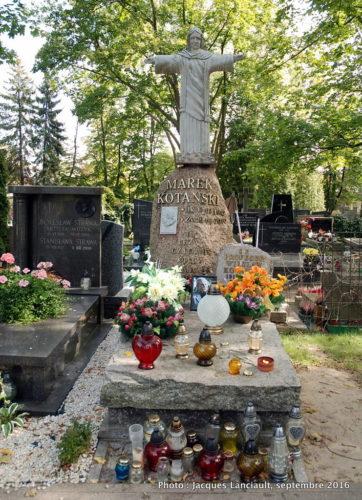 Tombe de Marek Kotański, cimetière Powązki Wojskowe, Varsovie, Pologne