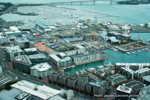 Vue du 51e étage de la Sky Tower, Auckland, Nouvelle-Zélande
