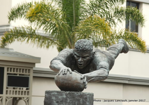 Statue de Mickael Jones, Auckland, Nouvelle-Zélande