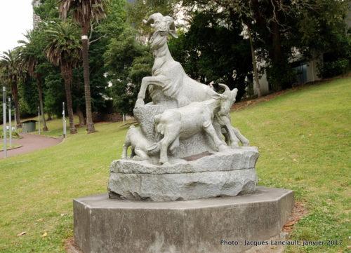 Monument des cinq chèvres, Park Myers, Auckland, Nouvelle-Zélande