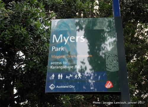 Parc Myers, Auckland, Nouvelle-Zélande