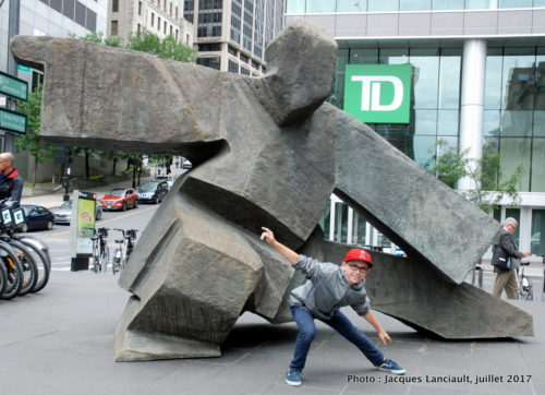 Sculptures de Ju Ming, Quartier international, Montréal, Québec