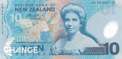 Billet de 10$ néo-zélandais, Nouvelle-Zélande