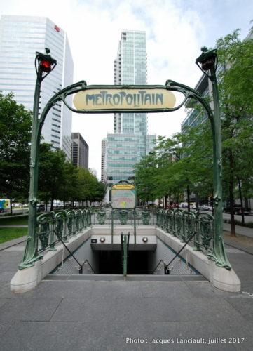 Métropolitain, Métro square Victoria