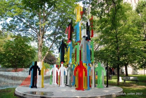 Structure humaine Vancouver, Jonathan Borofsky, Balade pour la Paix, Montréal, Québec
