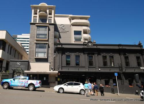 Pub <i>Backbenchers, Wellington, île du Nord, Nouvelle-Zélande