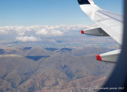 En vol, île du Sud, Nouvelle-Zélande