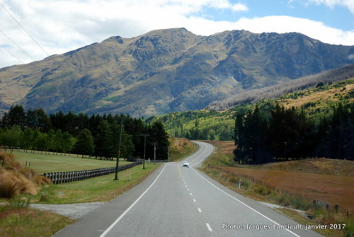 Route panoramique, Queenstown, île du Sud, Nouvelle-Zélande