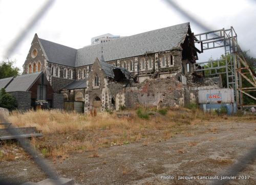 Ancienne cathédrale de Christchurch, île du Sud, Nouvelle-Zélande