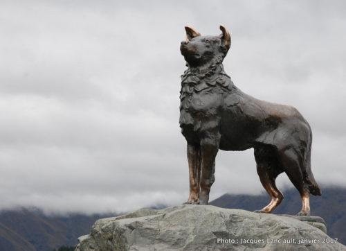 Monument aux chiens collies, île du Sud, Nouvelle-Zélande