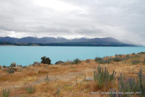 Lac Pukaki, île du Sud, Nouvelle-Zélande