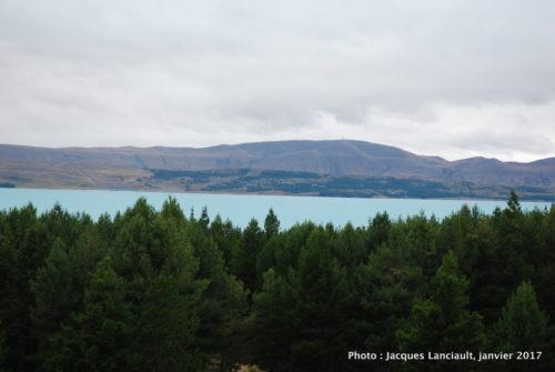 Lac Benmore, île du Sud, Nouvelle-Zélande