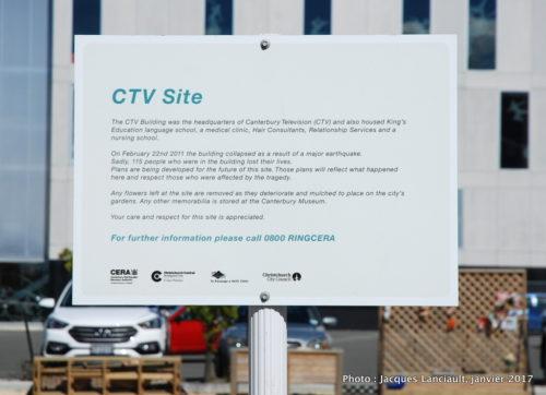 Terrain CTV, Christchurch, île du Sud, Nouvelle-Zélande