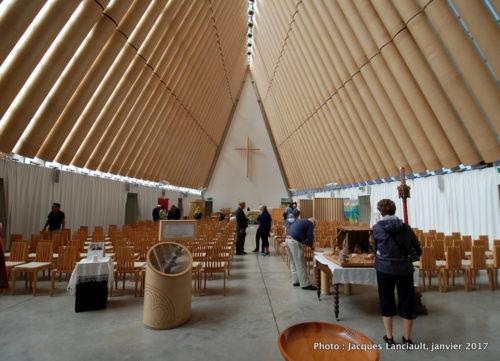 Cathédrale de carton, Christchurch, île du Sud, Nouvelle-Zélande