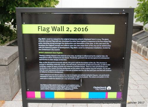 Flag Wall2, 2016, Christchurch, île du Sud, Nouvelle-Zélande