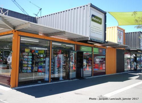 Container Mall, Christchurch, île du Sud, Nouvelle-Zélande
