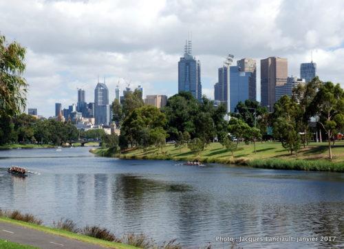 Berges de la Yarra, Melbourne, Australie
