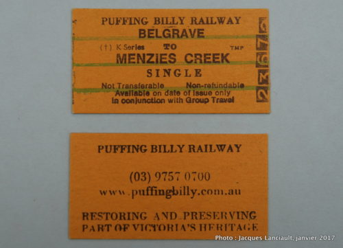 Puffing Billy, Belgrade, Australie