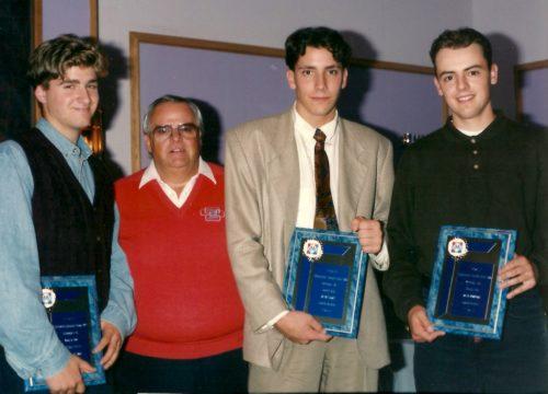 Gala LBMJÉ1992, Frédéric Neveu, Richard Bélec, Benoît Eudes et David Bourgoin