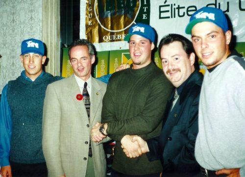 Dany Prata, Denis Servais, Éric Gagné Jean Bradette et Éric Charron.