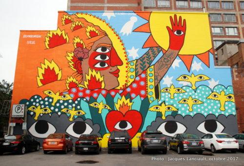 Mes cinq yeux sur le soleil, de Ricardo Cavolo, Montréal, Québec