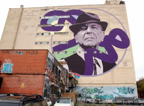 Leonard Cohen, Kevin Ledo, Montréal, Québec